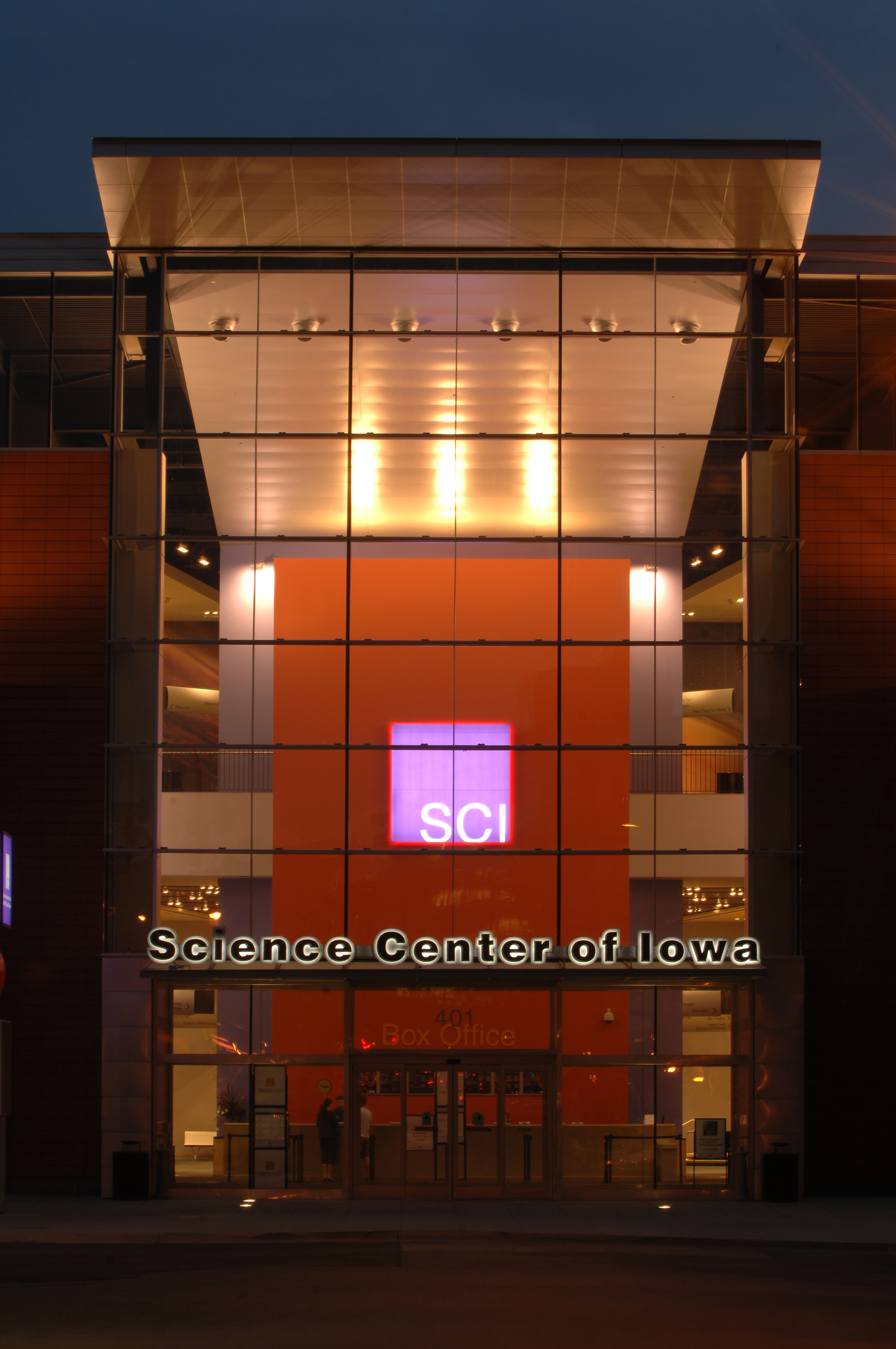 Science Center of Iowa — Front w/ Logo